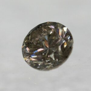 Cert 0.47 Carat Light Brown SI2 Round Brilliant Natural Diamond 4.83mm EX #63