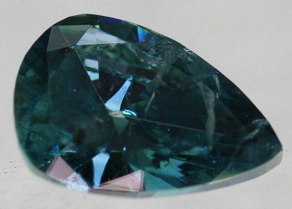 Cert 0.96 Carat Fancy Vivid Blue SI2 Pear Natural Diamond 5.7mm #250