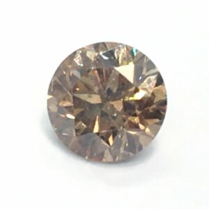 CertIfied 0.64 Ct Vivid Brown VS1 Round Natural Diamond 5.29mm Video#00