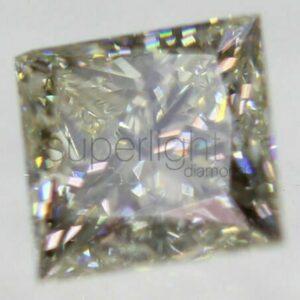 Certified 0.30 I VVS2 Princess Square Natural Loose Diamond 3.7×3.63mm EX EX #95