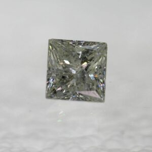 Certified 0.76 Ct H SI2 Princess Natural Diamond Loose 4.83×5.09mm 2VG #130