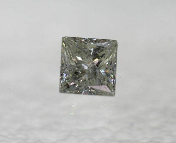 Certified 0.76 Ct H SI2 Princess Natural Diamond Loose 4.83×5.09mm 2VG #130