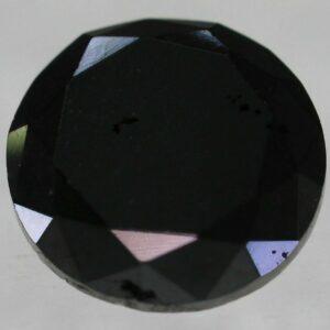 Certified Diamond 1.32 Carat Fancy Black Round Brilliant Natural 6.96mm #50