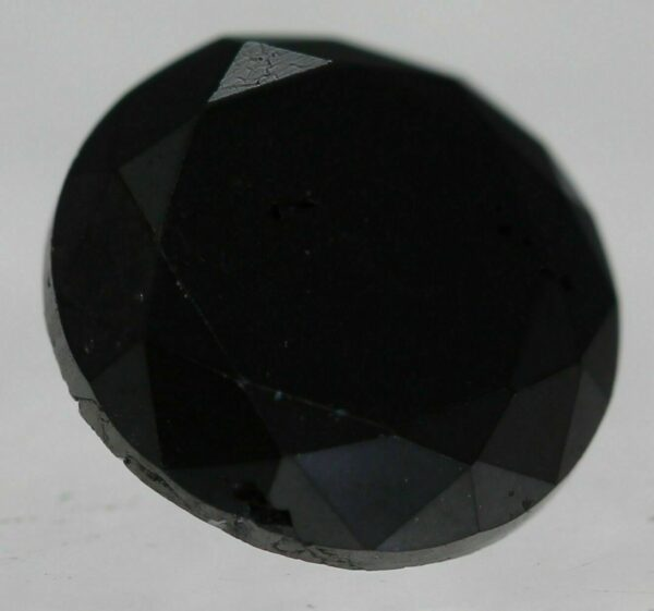 Certified Diamond 1.32 Carat Fancy Black Round Brilliant Natural 6.96mm #50