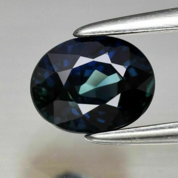 VVS Clean 0.88ct 5.8×4.6mm Oval Natural Unheated Untreated Blue Sapphire, #12